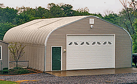 Crown steel buildings steel garage kits for Residential garage kits